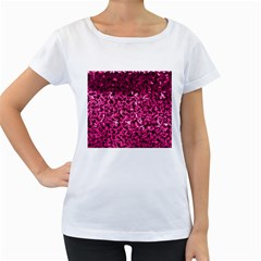 Pink Cubes Women s Loose-Fit T-Shirt (White)
