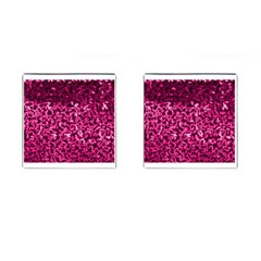 Pink Cubes Cufflinks (square)