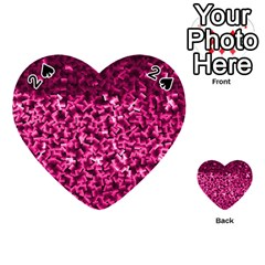 Pink Cubes Playing Cards 54 (Heart)