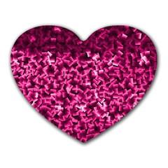 Pink Cubes Heart Mousepads