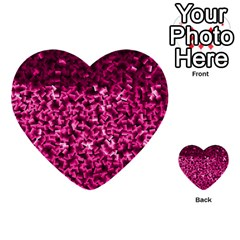 Pink Cubes Multi Purpose Cards (heart)