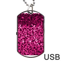 Pink Cubes Dog Tag Usb Flash (two Sides)