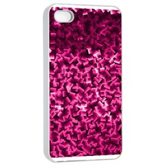 Pink Cubes Apple iPhone 4/4s Seamless Case (White)