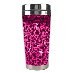 Pink Cubes Stainless Steel Travel Tumblers