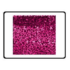 Pink Cubes Double Sided Fleece Blanket (small)