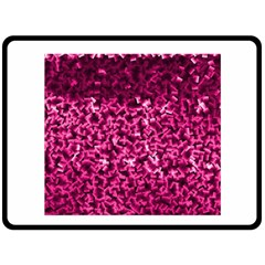 Pink Cubes Double Sided Fleece Blanket (large)