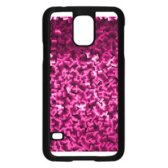 Pink Cubes Samsung Galaxy S5 Case (black)