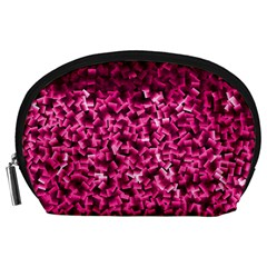 Pink Cubes Accessory Pouches (Large)