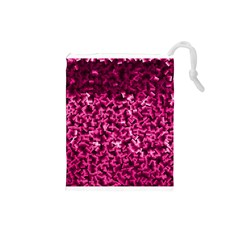 Pink Cubes Drawstring Pouches (small)