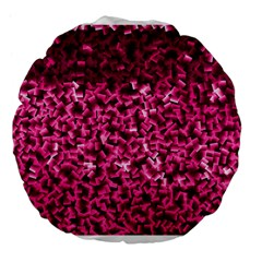 Pink Cubes Large 18  Premium Flano Round Cushions