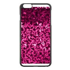 Pink Cubes Apple iPhone 6 Plus Black Enamel Case