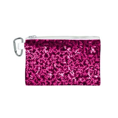 Pink Cubes Canvas Cosmetic Bag (S)