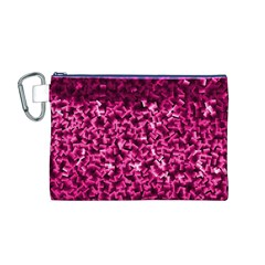 Pink Cubes Canvas Cosmetic Bag (M)