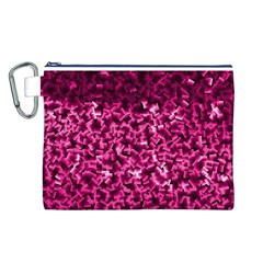 Pink Cubes Canvas Cosmetic Bag (L)