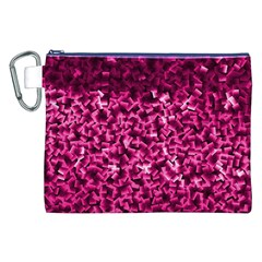 Pink Cubes Canvas Cosmetic Bag (XXL)