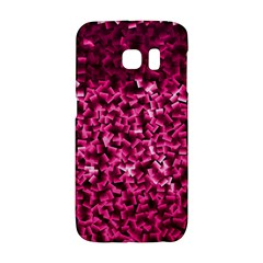 Pink Cubes Galaxy S6 Edge