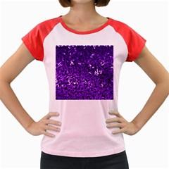 Purple Cubes Women s Cap Sleeve T-Shirt