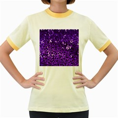 Purple Cubes Women s Fitted Ringer T-Shirts