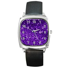 Purple Cubes Square Metal Watches
