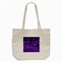 Purple Cubes Tote Bag (cream)