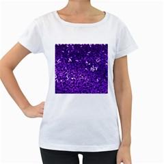 Purple Cubes Women s Loose Fit T Shirt (white)