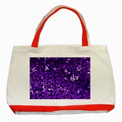 Purple Cubes Classic Tote Bag (red)