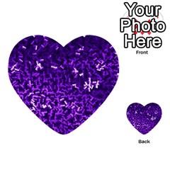 Purple Cubes Multi-purpose Cards (Heart)
