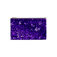 Purple Cubes Cosmetic Bag (small)