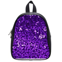 Purple Cubes School Bags (small)