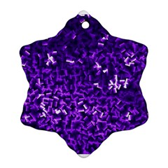 Purple Cubes Ornament (Snowflake)