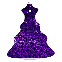 Purple Cubes Christmas Tree Ornament (2 Sides)
