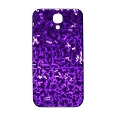 Purple Cubes Samsung Galaxy S4 I9500/i9505  Hardshell Back Case