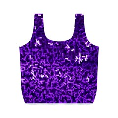 Purple Cubes Full Print Recycle Bags (m)