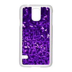 Purple Cubes Samsung Galaxy S5 Case (White)