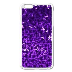 Purple Cubes Apple Iphone 6 Plus Enamel White Case