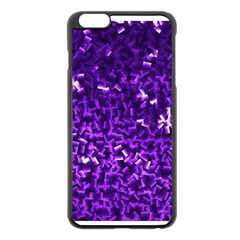 Purple Cubes Apple iPhone 6 Plus Black Enamel Case