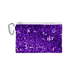 Purple Cubes Canvas Cosmetic Bag (S)