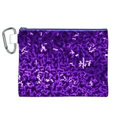 Purple Cubes Canvas Cosmetic Bag (XL)
