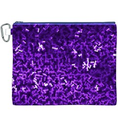 Purple Cubes Canvas Cosmetic Bag (XXXL)