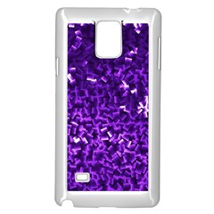Purple Cubes Samsung Galaxy Note 4 Case (White)