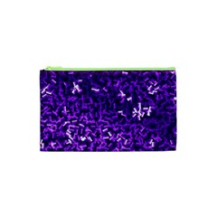 Purple Cubes Cosmetic Bag (XS)