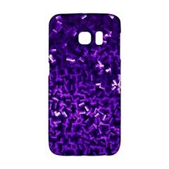 Purple Cubes Galaxy S6 Edge