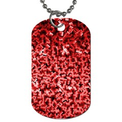 Red Cubes Dog Tag (two Sides)