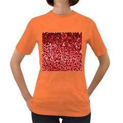 Red Cubes Women s Dark T Shirt