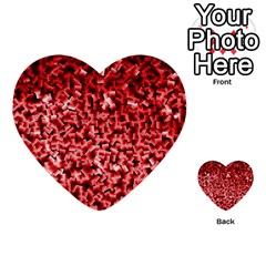 Red Cubes Multi Purpose Cards (heart)