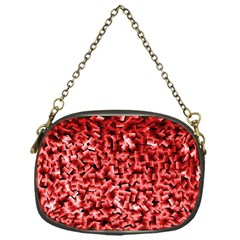 Red Cubes Chain Purses (one Side)