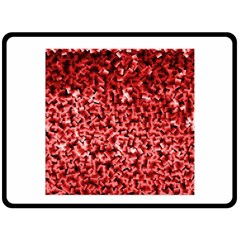 Red Cubes Double Sided Fleece Blanket (large)