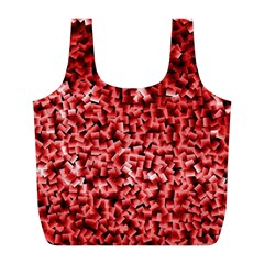 Red Cubes Full Print Recycle Bags (l)
