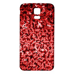 Red Cubes Samsung Galaxy S5 Back Case (White)