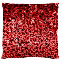 Red Cubes Large Flano Cushion Cases (Two Sides)